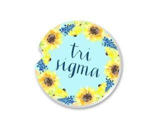 Sigma Sigma Sigma Sunflower Car Coaster