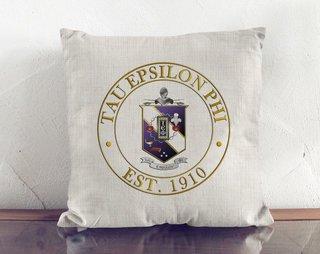 Tau Epsilon Phi Crest Linen Pillow