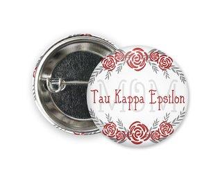 Tau Kappa Epsilon Mom Floral Button