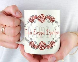 Tau Kappa Epsilon Mom Floral Mug
