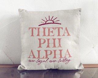Theta Phi Alpha Linen Sun Pillow