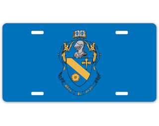 Theta Phi Alpha Crest - Shield License Plate