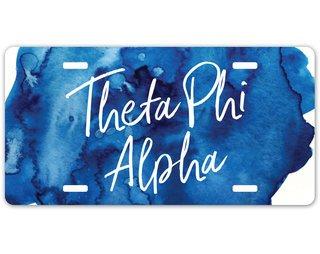 Theta Phi Alpha Watercolor License Plate