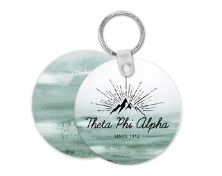 Theta Phi Alpha Mountain Key Chain