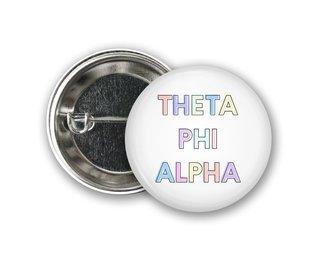 Theta Phi Alpha Pastel Letter Button