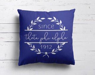 Theta Phi Alpha Since Established Pillow