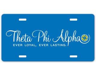 Theta Phi Alpha Sorority Logo License Cover
