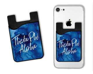 Theta Phi Alpha Watercolor Caddy Phone Wallet