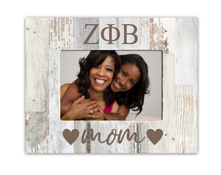 Zeta Phi Beta Hearts Faux Wood Picture Frame