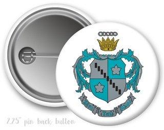 Zeta Tau Alpha Color Crest - Shield Button