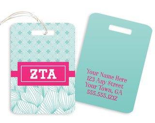 Zeta Tau Alpha Geometric Luggage Tag