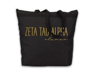Zeta Tau Alpha Gold Foil Alumna Tote