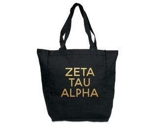Zeta Tau Alpha Gold Foil Tote bag