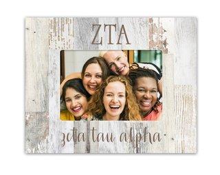 Zeta Tau Alpha Letters Barnwood Picture Frame