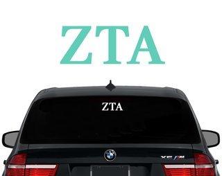 Zeta Tau Alpha Letters Decal