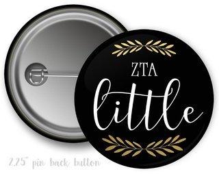 Zeta Tau Alpha Little Button