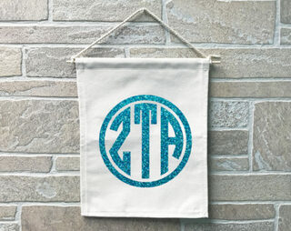 Zeta Tau Alpha Monogram Banner