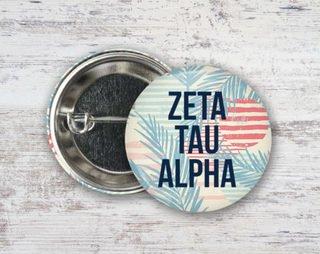 Zeta Tau Alpha Paradise Found Button