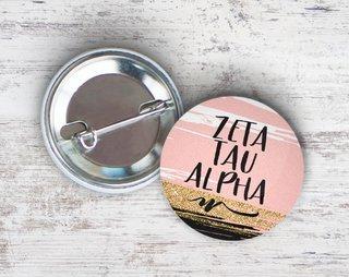 Zeta Tau Alpha Rose Gold Button