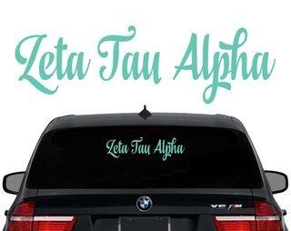 Zeta Tau Alpha Script Decal
