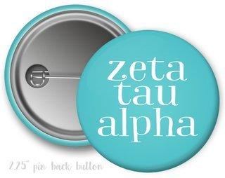 Zeta Tau Alpha Simple Text Button