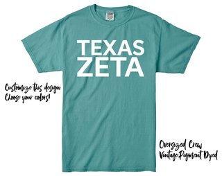 Zeta Tau Alpha Texas Tee