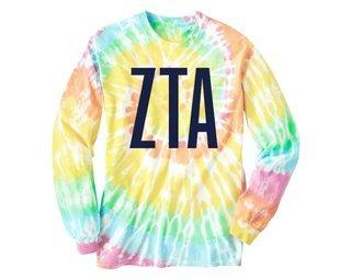 Zeta Tau Alpha Tie Dye Long Sleeve
