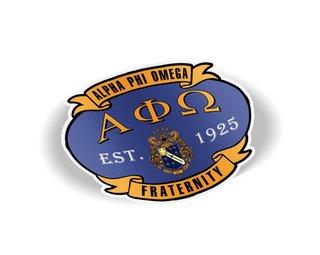 Alpha Phi Omega Banner Crest - Shield Decal