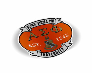 Alpha Sigma Phi Banner Crest - Shield Decal