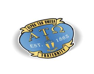Alpha Tau Omega Banner Crest - Shield Decal