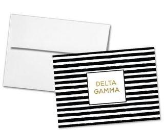 Delta Gamma Striped Notecards(6)