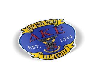 Delta Kappa Epsilon Banner Crest - Shield Decal