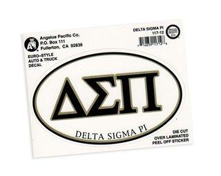 Delta Sigma Pi Euro Decal Oval Sticker