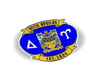 Delta Upsilon Banner Crest - Shield Decal