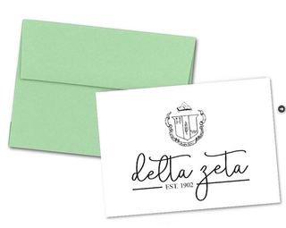 Delta Zeta Established Notecards(6)