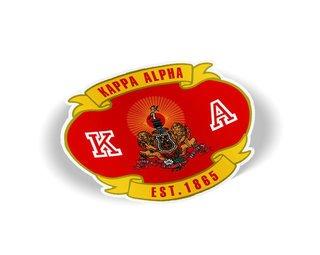 Kappa Alpha Banner Crest - Shield Decal