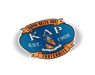 Kappa Delta Rho Banner Crest - Shield Decal