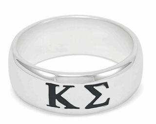 Kappa Sigma Sterling Silver Wide Band Ring
