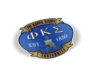 Phi Kappa Sigma Banner Crest - Shield Decal