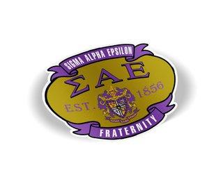 Sigma Alpha Epsilon Banner Crest - Shield Decal