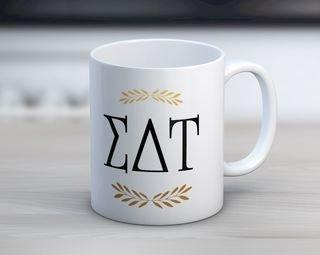 Sigma Delta Tau Letter Coffee Mug