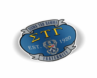 Sigma Tau Gamma Banner Crest - Shield Decal