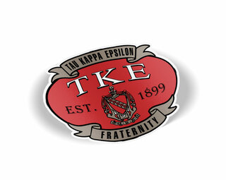 Tau Kappa Epsilon Banner Crest - Shield Decal