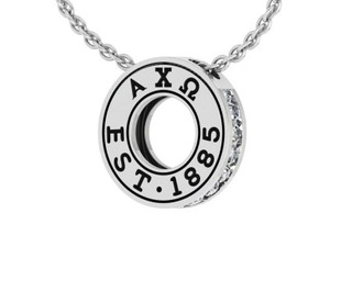 Alpha Chi Omega Circle Established Charm Necklace - ON SALE!
