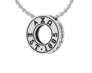 Alpha Chi Omega Circle Established Charm Necklace - ON SALE!