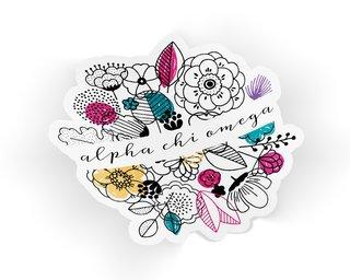 Alpha Chi Omega Flower Sticker