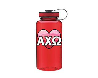 Alpha Chi Omega Heart Wide Mouth Water Bottle