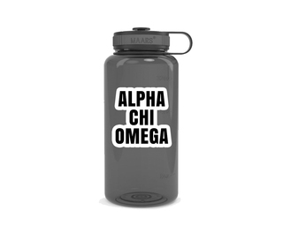Alpha Chi Omega Simple Wide Mouth Water Bottle