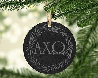Alpha Chi Omega Slate Letters Ornament
