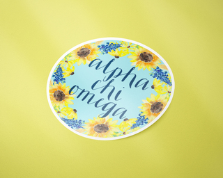 Alpha Chi Omega Sunflower Sticker